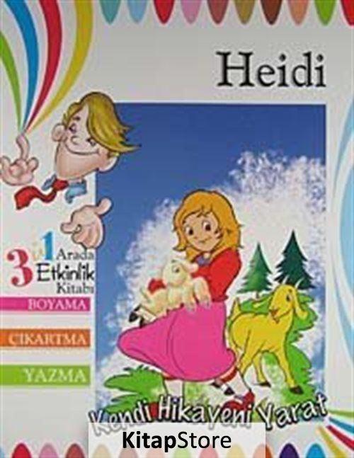 Heidi 3 U 1 Arada Etkinlik Kitabi Boyama Cikartma Yazma