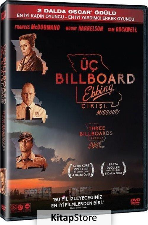 Üç Billboard Ebbing Çıkışı Missouri - Three Billboards Outside Ebbing, Missouri (DVD)